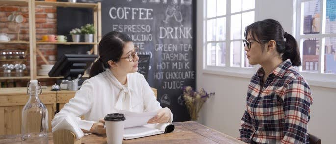 EHO sits with cafe owner to discuss safety documentation