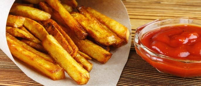 Browned chips