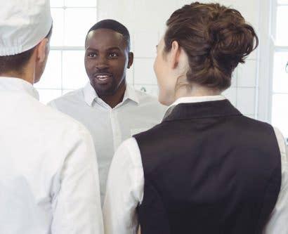 chef briefing restaurant team