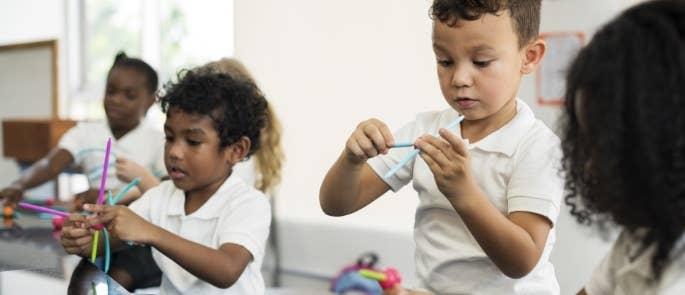 Child in a creative class