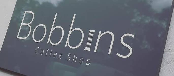Bobbins new cafe sign
