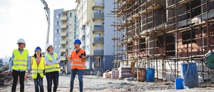 Site visit to large building construction