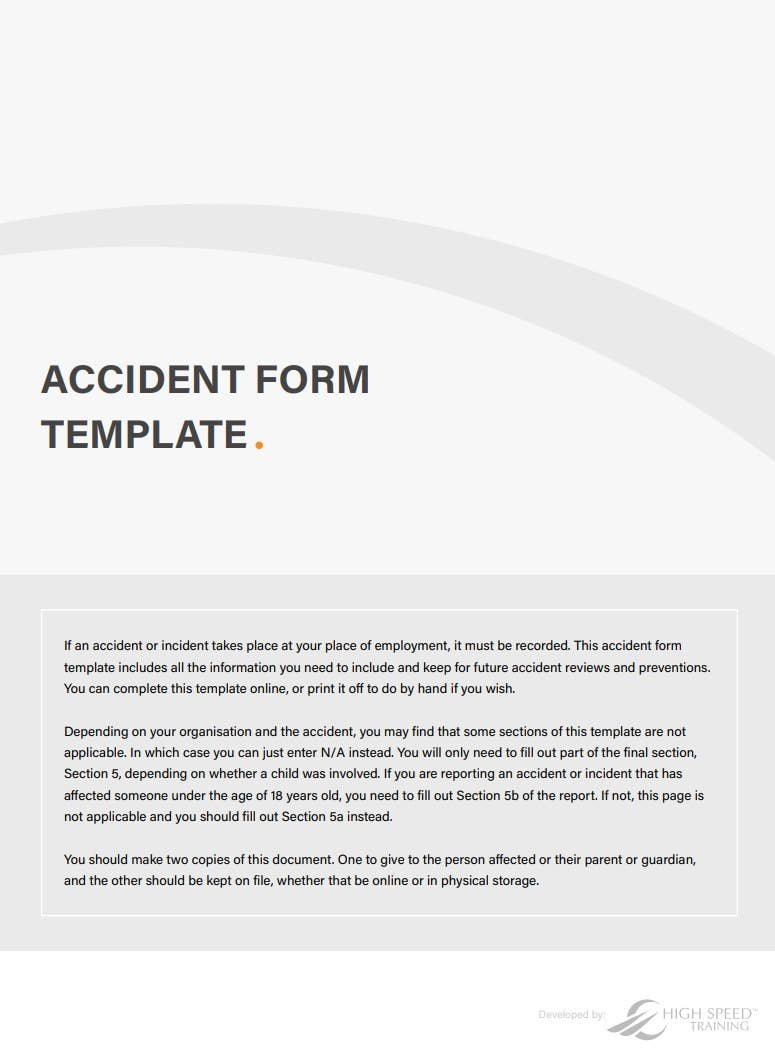 accident form template