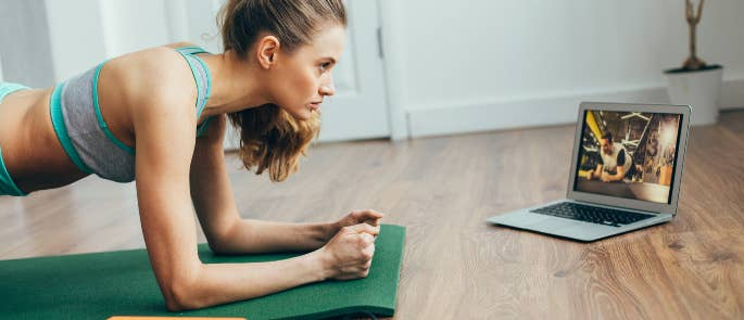 Using an online class to exercise