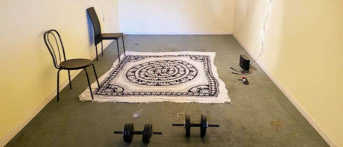 Creating our own gym in an garage space