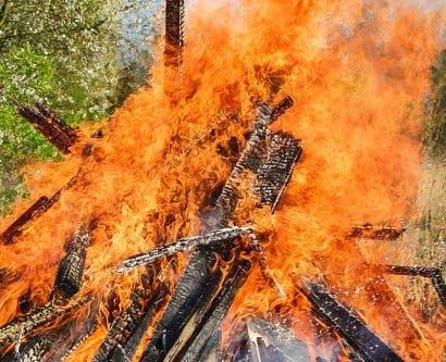 Burning Rubbish