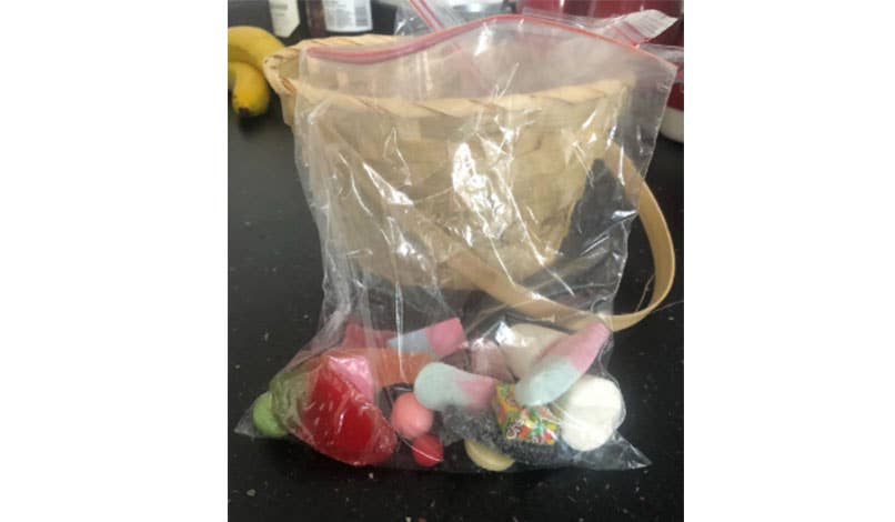 Homemade sweet pick and mix bag for children