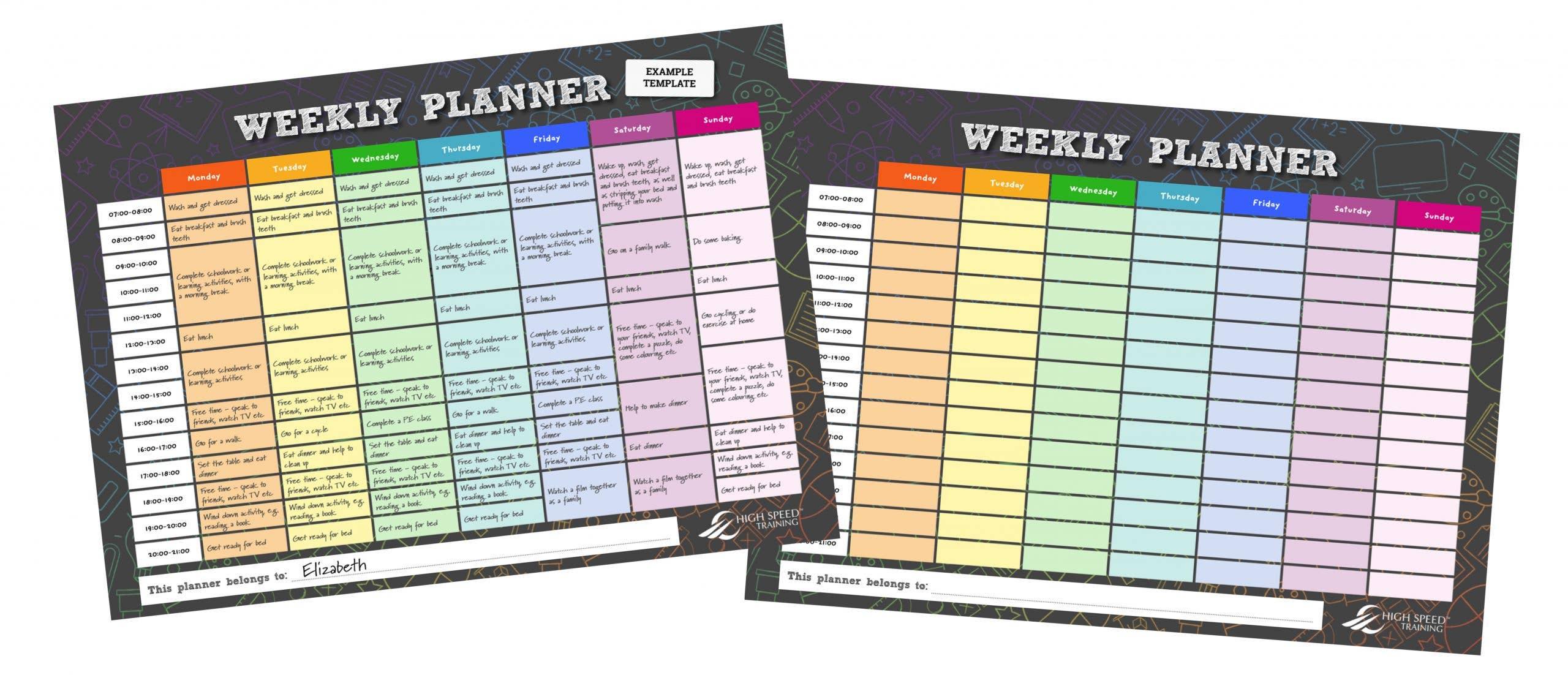 Free Weekly Planner Example