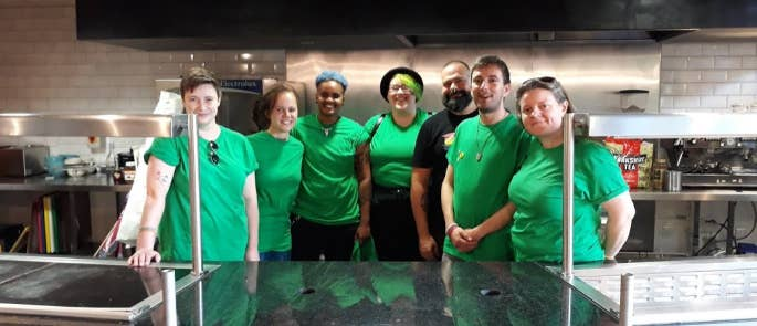 Sidney Street Cafe team of volunteers and staff