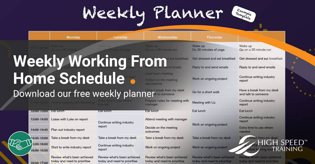 Working From Home Schedule Free Template Tips