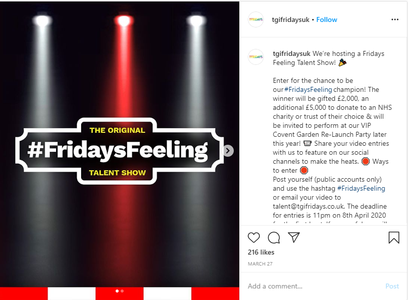 TGI Fridays example