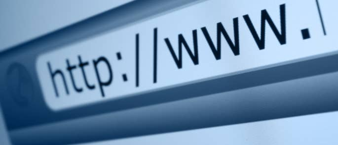 Close-up image of the address bar on an internet page