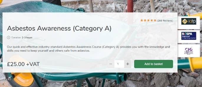 Asbestos awareness high speed training course