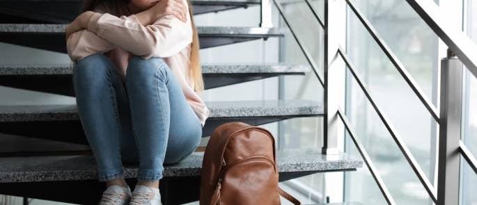 Upset teenage girl