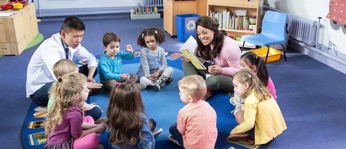 Children learning in a nursery business