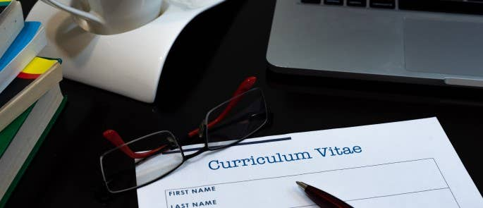 a picture of a CV being written