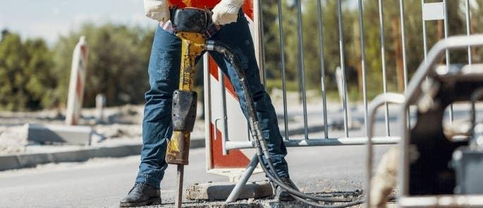 Construction site drill