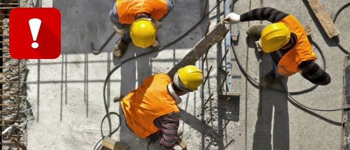 Trip hazards on construction site