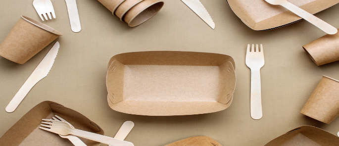 Different types of sustainable food packaging