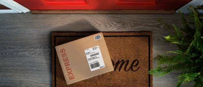 Delivery on doorstep